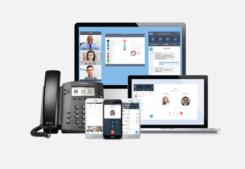 Clovis Voip phones and computers
